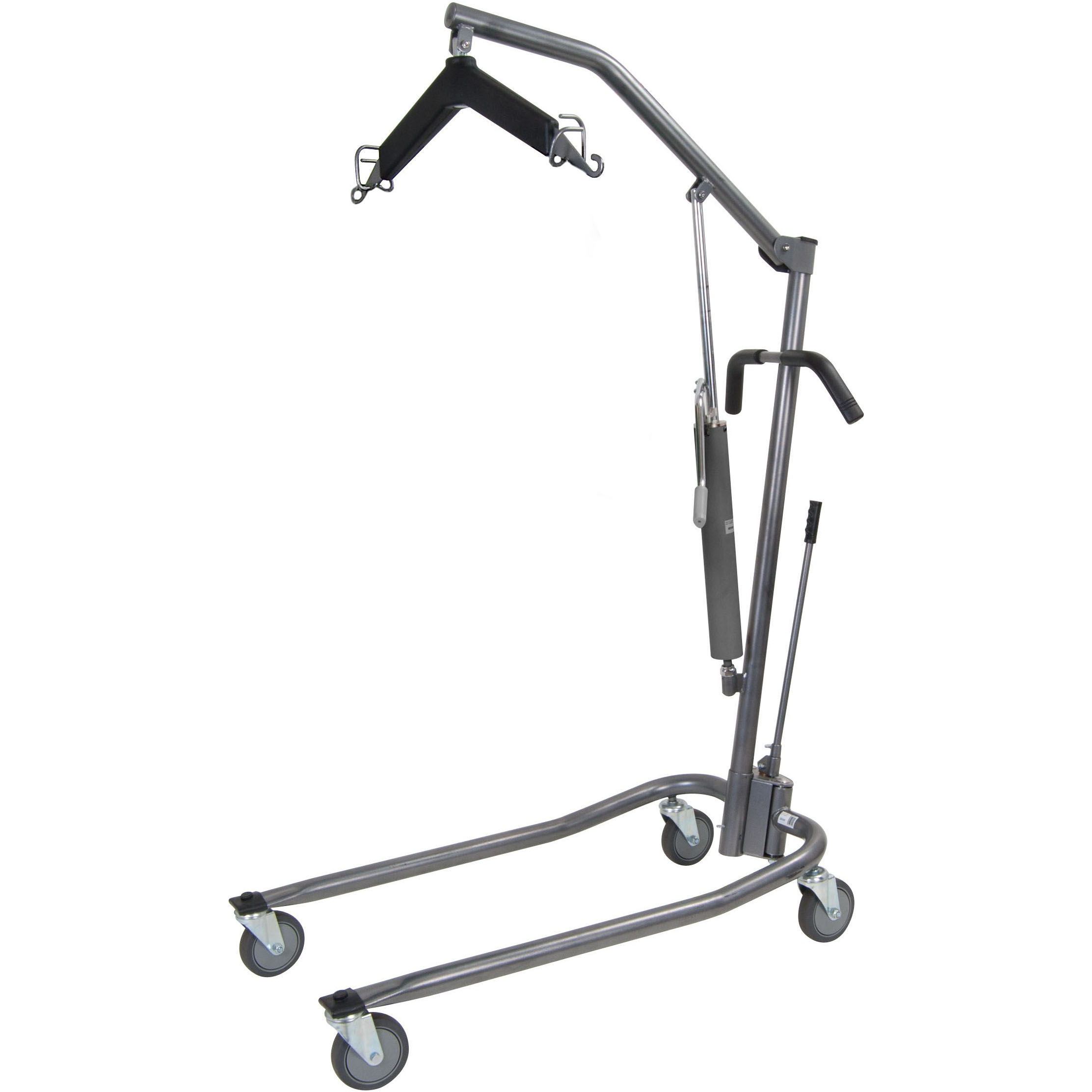 Hydraulic Standard Patient Lift with Six Point Cradle, Silver Vein
