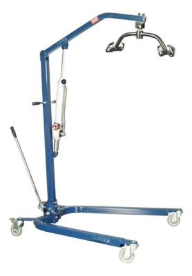 Patient Lift, Hydraulic, Blue with Large DSLR115 Sling